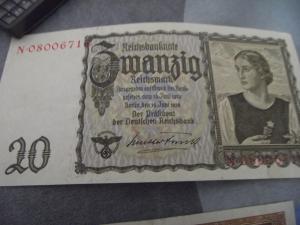 20 mark reichbanknote 1939