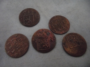 koin nederland indische 1824-28 1/4 stuiver